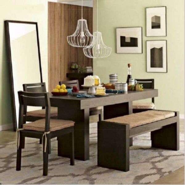 E 013 PO - Retro/Loft Solid Wood Dining Office Table Bench