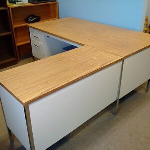 FOR SALE large office desk with credenza