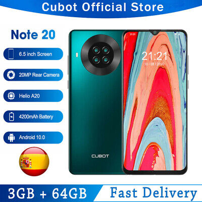 6,5″ CUBOT NOTE 20 NFC 4G Smartphone 3GB+64GB Android Teléfono Móvil Dual...