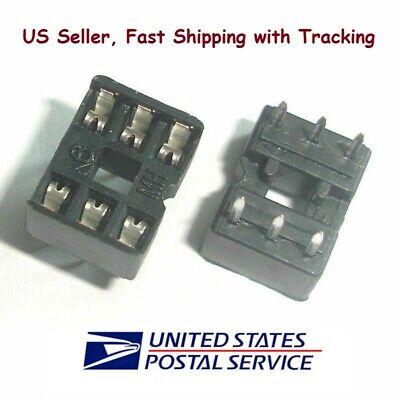 20 Pcs 6 Pin Dip Ic Sockets Adaptor Solder Type Socket - Us Seller Fast Shipping