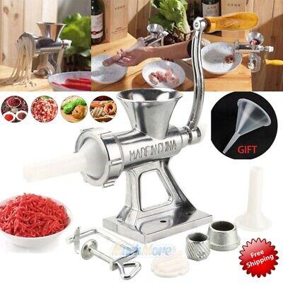 Manual Meat Grinder Sausage Stuffer Meat Grinder Mincer Pasta Maker Crank Home