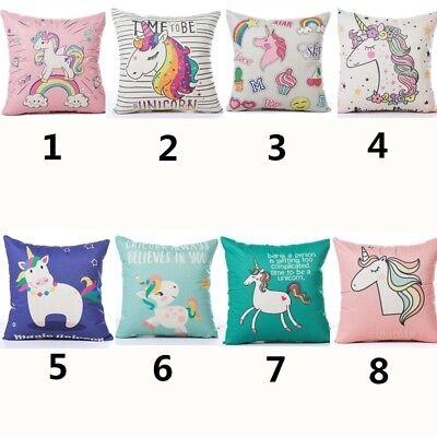 Unicorn Pillow (Unicorn Home Decor Cotton Linen Pillow Case Sofa Waist Throw Cushion)