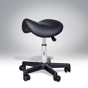 Salon Spa Stool Swivel Saddle PU Leather Seat- Clearence