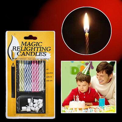 10X Prank Candle Magic Trick Relighting Candle Birthday Cake Party Gag Joke VG - Magic Birthday Party