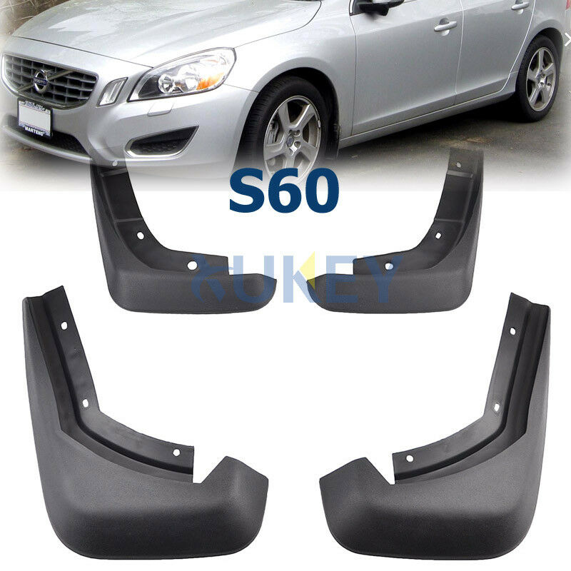 Set Fit For 2010-2016 VOLVO S60 Sedan Molded Mudguards Mud Flaps Splash Guards