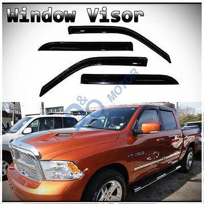 4pcs Sun/Rain Guard Vent Shade Window Visor Fit 09/10-15 Dodge Ram Crew/Mega