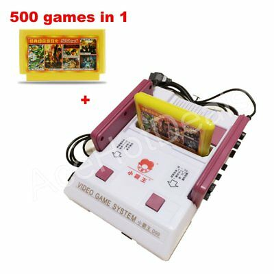 - D99 Video Games Console Player with 500 Games Card TV Game Player w/Retail Box