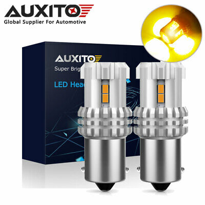 AUXITO 1156 BA15S Amber Yellow 3020SMD LED Turn Signal Indicator Side Light -