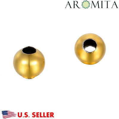 - Wholesale Gold Plated Stainless Steel Round Spacer Beads supplies 8mmDia 3mmHole