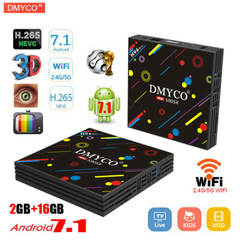Dmyco H96 Pro Tv Box Andriod 7.1 S905x Quad Core 2.4g5g Wifi 2gb+16gb 4k Player