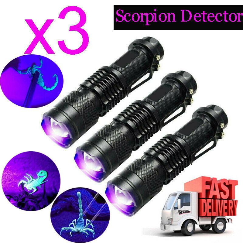 3PCS UV Ultra Violet LED Flashlight 365/395nm Torch Blacklig