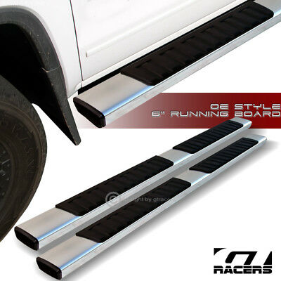"For 2007-2018 Silverado/Sierra Crew Cab 6""Aluminum Side Step Running Boards"