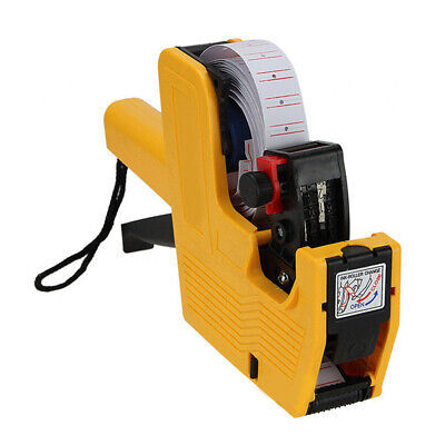 2in1 Price Tag Gun Mx-5500 8 Digits Eos 5000 White W Red Line Labels 1ink