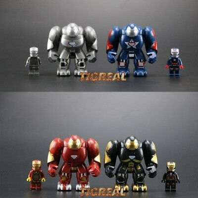 4 Style Iron Man Minifigure Marvel Avengers Super Heroes Infinity War For Lego