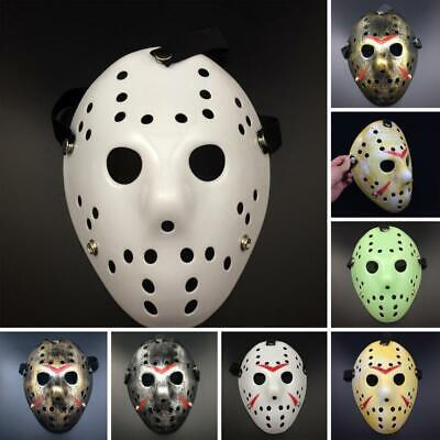 Scary Jason Costume (Jason Voorhees Friday Movie Hockey  Mask Scary Halloween Mask Party)