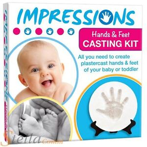 Baby Hands & Feet Plaster Casting Mould Impression Cast Kit Christening Gift