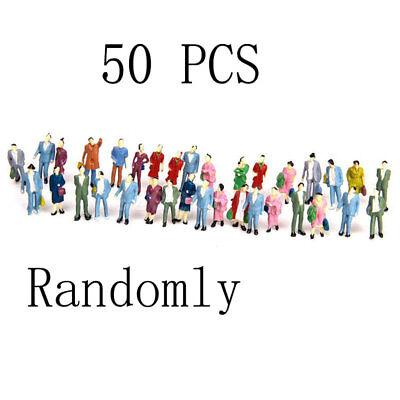 50Pcs New Hot 1 87 Mix Painted Model Train Park Passenger People Figures Diy Dj8