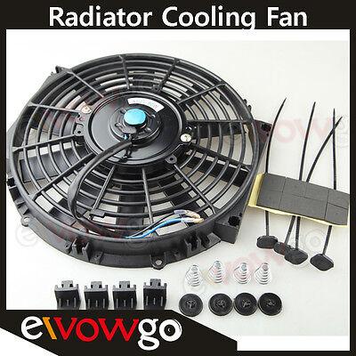 10 Universal Radiator Cooling Fan Push  Pull  Mounting Kit Straight Blade