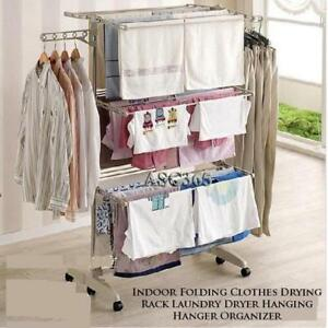 Indoor Folding Clothes Drying Rack Laundry Dryer Hanging Organizer(300001)