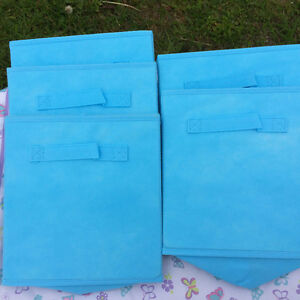 5 Blue Fabric Storage cube.  NEW