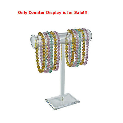 Clear Single-pole Necklacebracelet Counter Display 15h X 14w Inches - Box Of 2