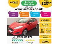 2015 RED FORD FIESTA 1.2 STYLE 82 PETROL 5DR HATCH CAR FINANCE FR £20 PW