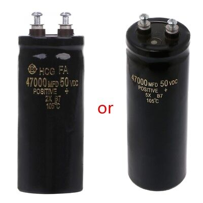 105 50v 47000ufmfd Aluminum Screw Audio Filtering Electrolytic Capacitor