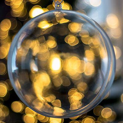 1x Trasparente Sfera Albero di Natale Decorazione Ornamento Regalo Palline
