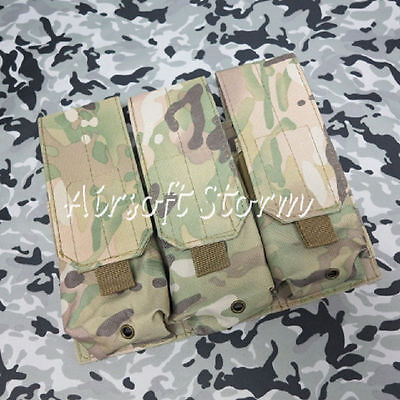 Airsoft Paintball Gear Molle Assault Triple Magazine Pouch Camouflage Camo