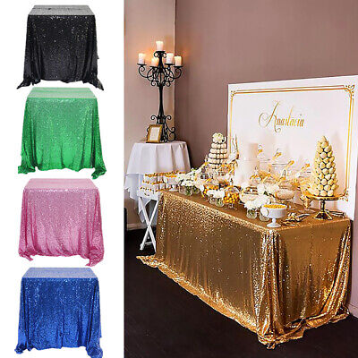 Glitter Table Cloth (1PC Table Cover Glitter Sequin Tablecloth Table Cloth Rectangular Wedding)