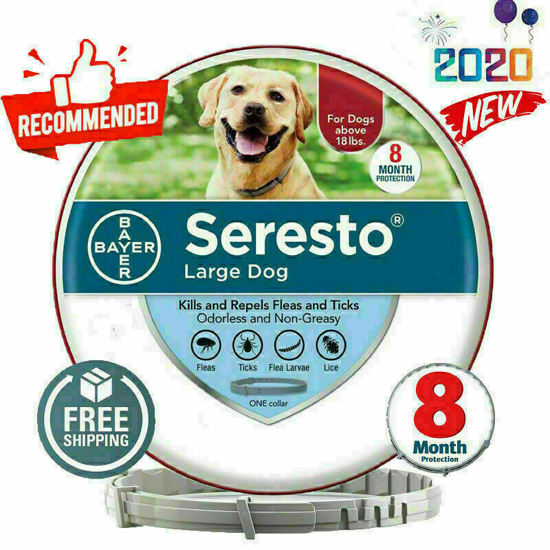 Bayer Seresto Flea and Tick Collar for Large Dog 8 Months Protection Control