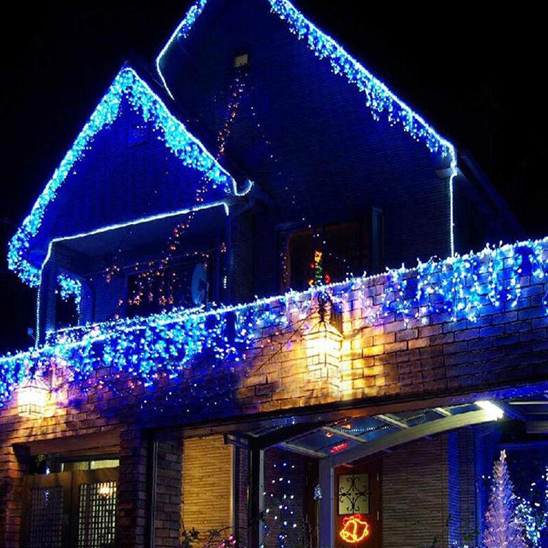 3 5m lichtervorhang eiszapfen lichterkette au en innen weihnachten hochzeit deko eur 2 69. Black Bedroom Furniture Sets. Home Design Ideas