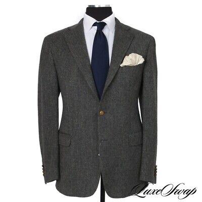 LNWOT #1 MENSWEAR Lardini Made Italy Seafoam Green Herringbone Tweed Jacket 54