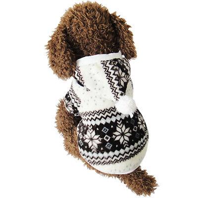 Hund Pullover Winter Kleidung Weihnachten Gemütliche Schneeflocke Kostüm Hoodies