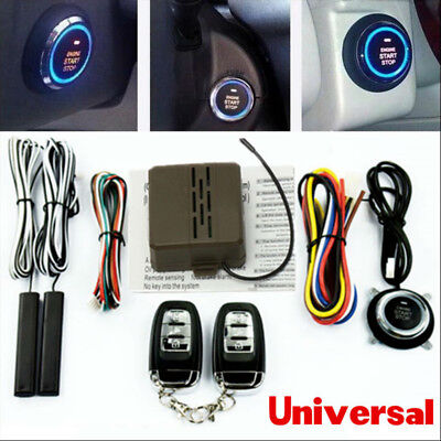 Car Auto Alarm System Security Keyless Entry Push Button Remote Engine Start top