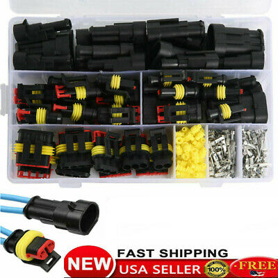 26 Set 1-4pin Way Waterproof Auto Electrical Car Wire Connector Plug Kit Wire
