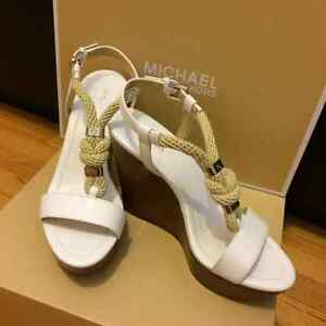 Like New Michael Kors Nautical Style Wedges For Sale!!