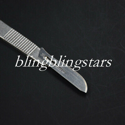 Dental Surgical Stainless Steel Scalpel Blades 10 Pcs 11 Knife 1 Pc 3 Handle