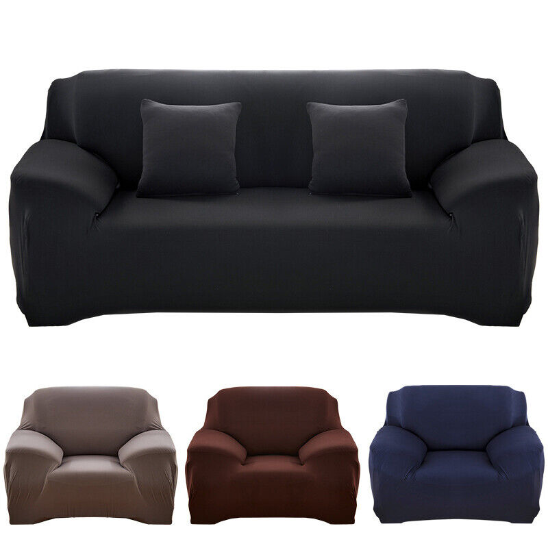 Solid Color Sofa Cover Stretch Seat Couch Covers Love Seat F