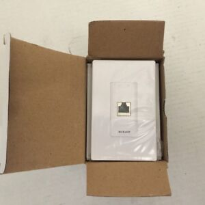 NUVO NV-RJ-45P-DC Factory Sealed White Connection Plate