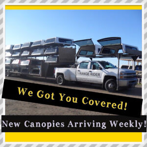 We Got You Covered !! New Truck Canopies Arriving Weekly