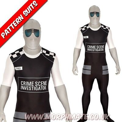 SALE Police Morphsuit Crime Scene Investigator Halloween Costume Cop CSI Cheap