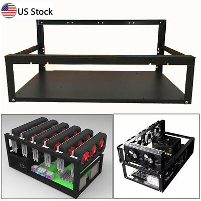 Crypto Coin Open Air Mining Miner Frame Rig Case Up To 6 Gpu Eth Btc Ethereum