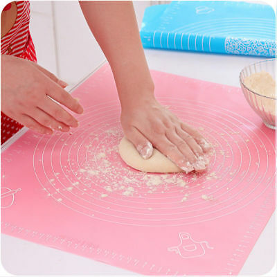 Silicone Mat Rolling Cut Mat Sugarcraft Fondant Pastry Icing Dough Kitchen -