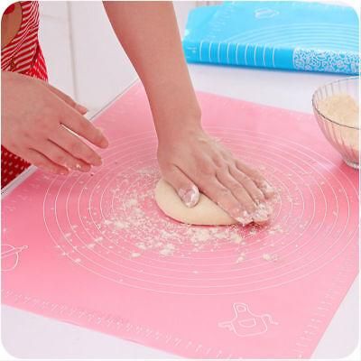 Silicone Mat Rolling Cut Mat Sugarcraft Fondant Pastry Icing Dough Kitchen Tools