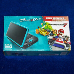 New Nintendo 2DS XL Black Turquoise (Mario Kart 7 Pre-installed)
