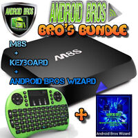 ANDROID BROS® BROS BUNDLE★M8S+Keyboard+Wizard ★RATED #1★