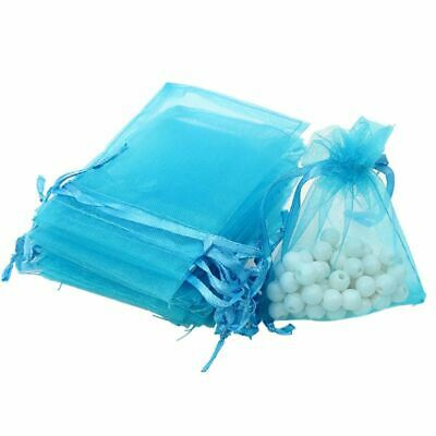 100pc Organza Jewelry Gift Bags Wedding Bags Drawstring Mesh Favors Pouch -