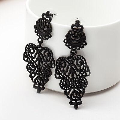Boho Alloy Hollow Leaves Earrings Dangle Drop Earrings Bohemia Women's Jewelry - Hollow Womens Earring