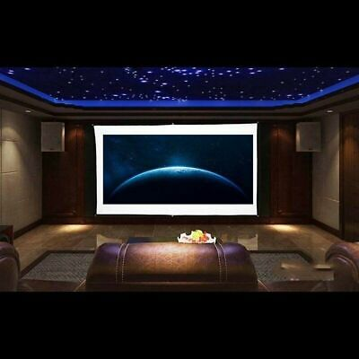 """120"""" Projector Screen 16:9 Projection HD Foldable Home Theater Wall 3D 4K Movies"""